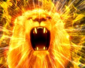 パチンコP野生の王国GO M-T YT800のギガ咆哮演出画像