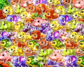 パチンコP野生の王国GO M-T YT800の動物群演出画像