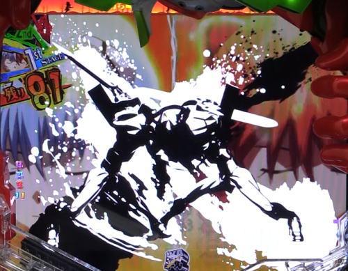 パチンコ新世紀エヴァンゲリオン 決戦 プレミアムモデルの共鳴ステージ画像