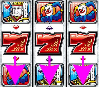 パチンコPフィーバークィーンⅡの全回転リーチ画像