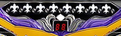 パチンコPフィーバークィーンⅡの保留、赤、青、点滅画像