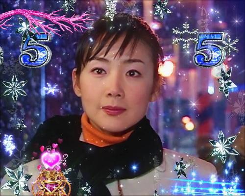 パチンコぱちんこ 冬のソナタ SWEET W HAPPY Versionの初雪リーチ