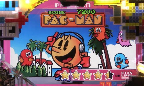 パチンコPAナムココレクション89ver.のパックマンSPリーチタイトル