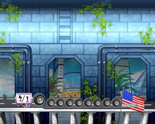 PAぱちんこ乗物娘77ver.のトンネル背景変化演出画像