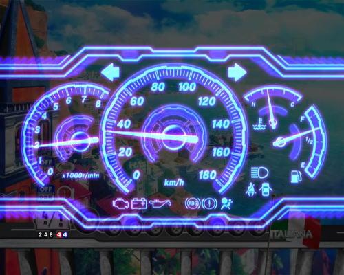 PAぱちんこ乗物娘77ver.のスピードメーター演出画像