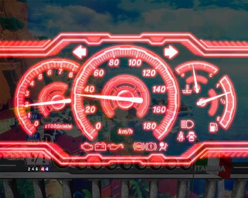 PAぱちんこ乗物娘77ver.のスピードメーター演出チャンスアップ画像