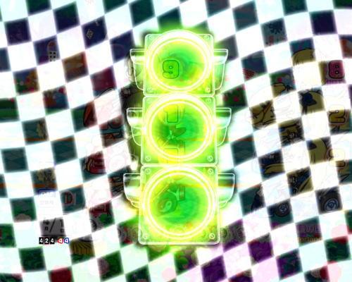 PAぱちんこ乗物娘77ver.の信号機演出チャンスアップ画像
