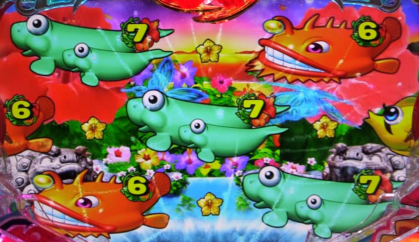 パチンコPAスーパー海物語 IN 沖縄5 with アイマリンの奇数図柄揃いの画像