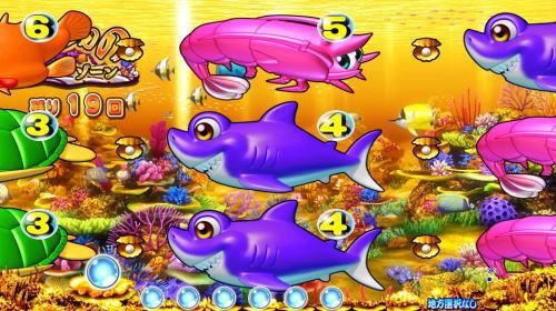 パチンコPAスーパー海物語 IN JAPAN2 金富士 99バージョンのいつものSTゾーン