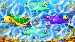 パチンコPAスーパー海物語 IN JAPAN2 金富士 99バージョン泡予告大の画像