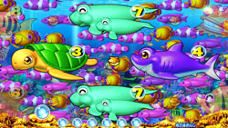 パチンコPAスーパー海物語 IN JAPAN2 金富士 99バージョン魚群予告の画像