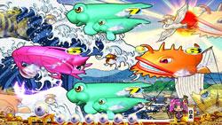 パチンコPAスーパー海物語 IN JAPAN2 金富士 99バージョン浮世絵リーチの画像