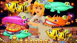 パチンコPAスーパー海物語 IN JAPAN2 金富士 99バージョンマリン盆踊りリーチの画像
