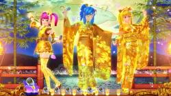 パチンコPAスーパー海物語 IN JAPAN2 金富士 99バージョンのリーチ発展後に3人娘登場画像