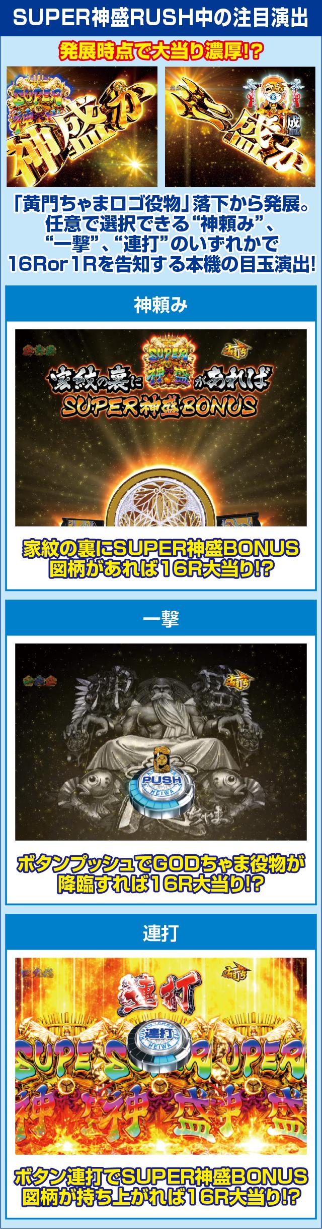 CR黄門ちゃま~神盛JUDGEMENT~のピックアップポイント