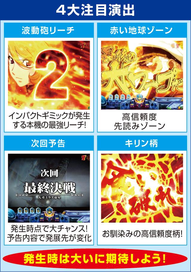 ぱちんこ宇宙戦艦ヤマト2199‐波動‐199Ver.のピックアップポイント